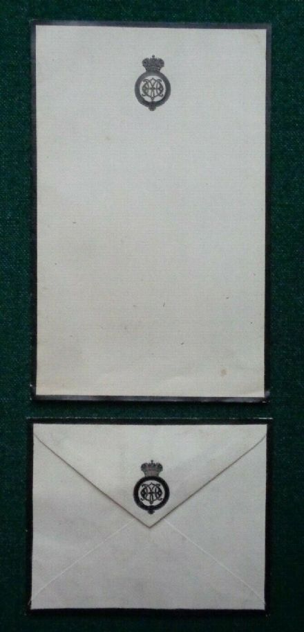 Antique Imperial Russian Royal Mourning Stationery Empress Marie Romanov Dagmar
